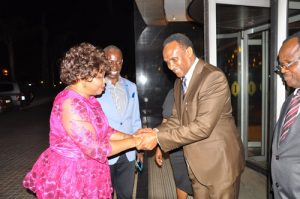 AE-International-Team-Leader--welcoming-Honorable-Governement---Minister--Godfridah--to-officiate-the-executive-dinner-(2)